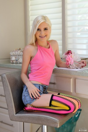 Tiny blond teen Piper Perri sucks a cock wearing thigh high socks and sneakers  1660939